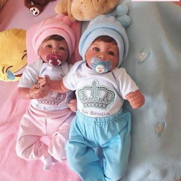 Bebês Reborn Gêmeos - Corpo de tecido