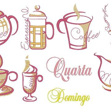 Matrizes de bordado- Semaninha de café