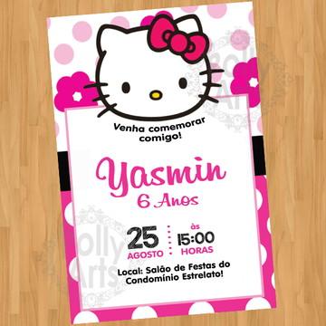 Arte Convite Hello Kitty Digital Virtual