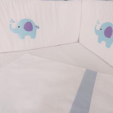 Kit Berço Elefante 8 peças