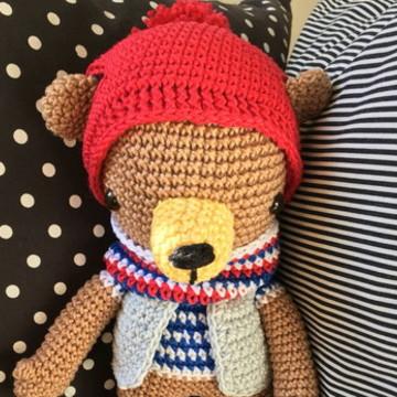 Hans Grizzly Bear ·Ursinho de amigurumi