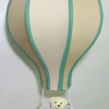 lustre balão infantil pendente personalizado beges e verde