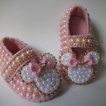 Sapatinho da Minnie bebê - Festa da Minnie