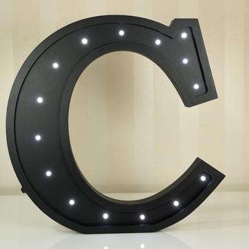Letra 3d C luminária de MDF