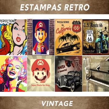 Estampas Imagens Retro Vintagem Artes Antigas