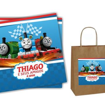 Adesivo para sacola Thomas e seus amigos