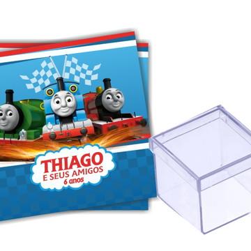 Adesivo Caixa acrílico Thomas e seus amigos