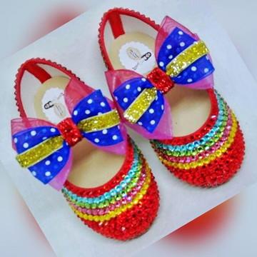 Sapato de cristal Infantil Colorido