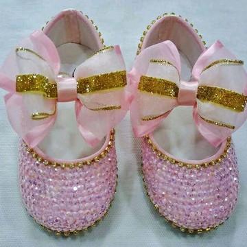 Sapato de cristal rosa