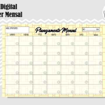 PLANNER MENSAL 28 - ARTE DIGITAL