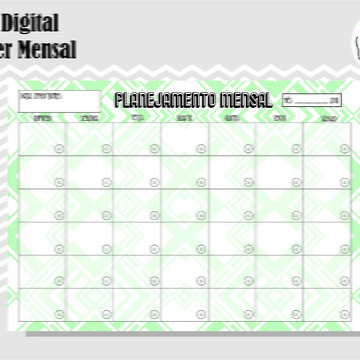 PLANNER MENSAL 29 - ARTE DIGITAL