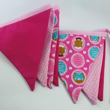 Varal de Bandeirinhas rosa - Quarto infantil