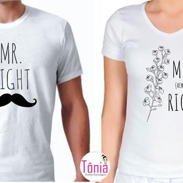 Mr right / Mrs Always right - Camisa casal
