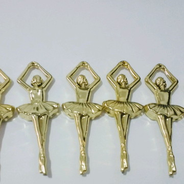 Bailarina dourada aplique lembrancinhas