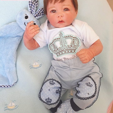 Lindo Bebê Reborn Molde Lucca - Corpo de tecido - Menino