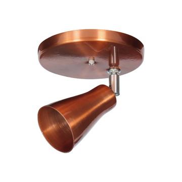 Spot cobre led para 1 lâmpada teto ou parede