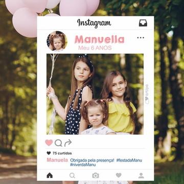 Moldura para tirar foto - Instagram - Arte Digital