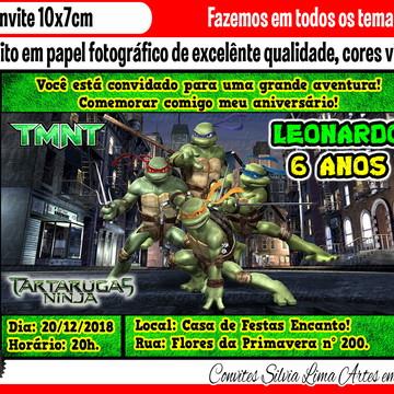 Convite Tartarugas Ninjas