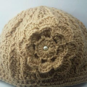 Touca feminina ou masculina em crochê