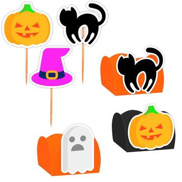 Kit Decoração Festa Halloween 100 itens