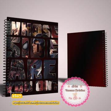Caderno Personalizado Vingadores Marvel
