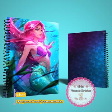 Caderno Personalizado Ariel Pequena Sereia Princesas