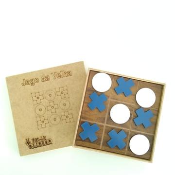 """Jogos da Velha em Mdf Tradicional """"X"""" E """"O"""" Azul + brinde"""