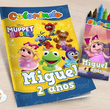 Kit colorir com giz de cera Muppet Babies
