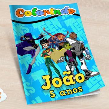 Revista colorir Os Jovens Titãs