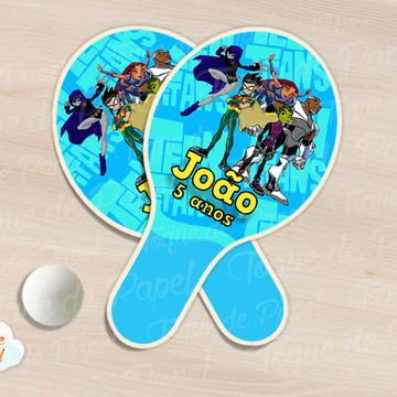 Raquete de ping pong Os Jovens Titãs