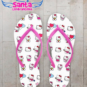 Chinelo Infantil Personalizado Hello Kitty