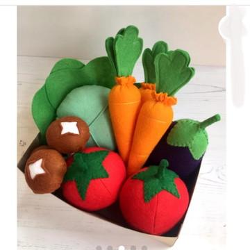 Legumes em feltro