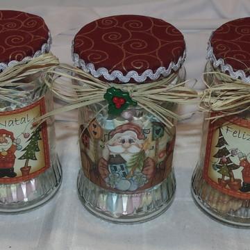 Trio de vidro do Papai Noel N° 601