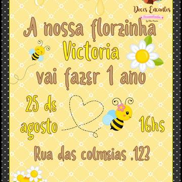 Convite digital tema abelhinha