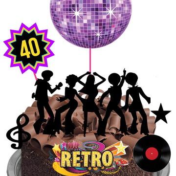 Topo de Bolo - Festa Disco