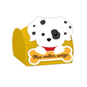 Forminha aniversario Festa Cachorrinhos Amarelo-24 Unid