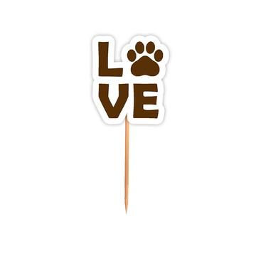 Pick Aniversario Festa Cachorrinhos Love - 24 Unid