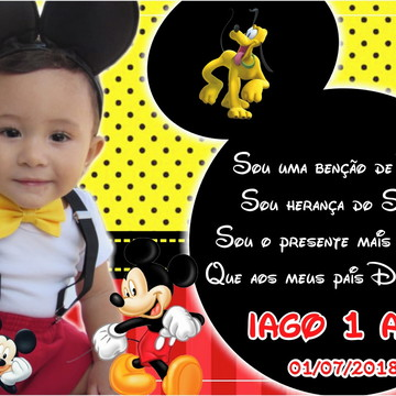 Foto Imã Mickey Mouse