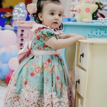 Vestido para Festa Floral de LUXO - infantil