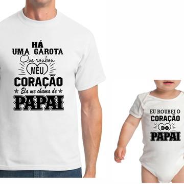 KIT CAMISETA DIA DO PAIS PRIMEIRO DIA DOS PAIS