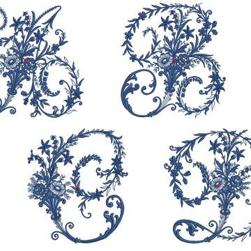Matrizes de bordado - Alfabeto 002