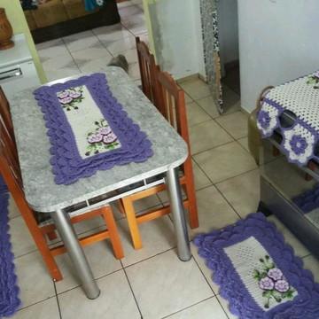 Conjunto Cozinha em croche 5 pçs