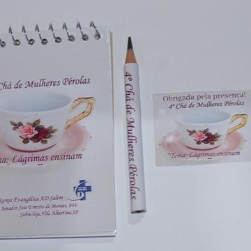 Bloquinho Personalizado Chá de Mulheres