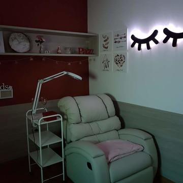 Olhinho cilios com luz de led decoração maternidade par