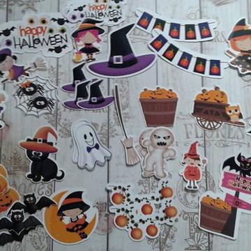 Kit recortes die cuts tema Halloween Dia das Bruxas