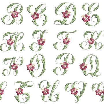 Matrizes de bordado - Alfabeto 009