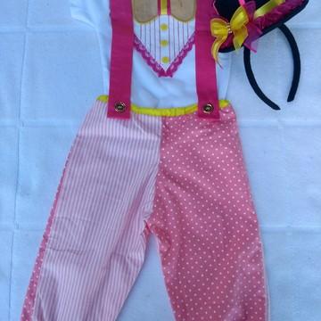 Conjunto circo/palhacinha menina personalizado