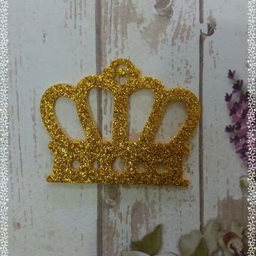 Coroa detalhada eva glitter