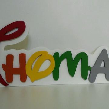 Disney Nome Personalizado em MDF Thomaz Decorativo
