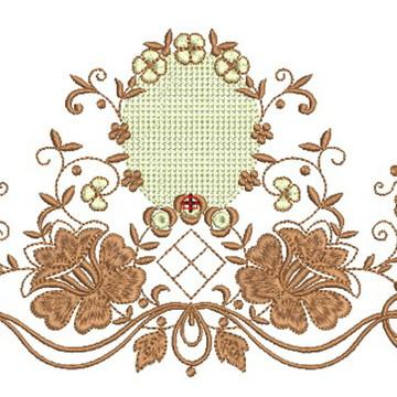 Matriz de bordado - Flores 015